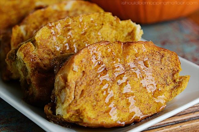 Easy Make-Ahead Breakfast Recipes: Overnight pumpkin French toast