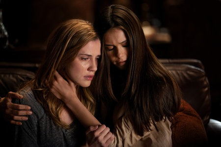 Nina Dorbev consoles in The Vampire Diaries