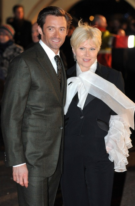 Deborra-lee Furness & Hugh Jackman red carpet
