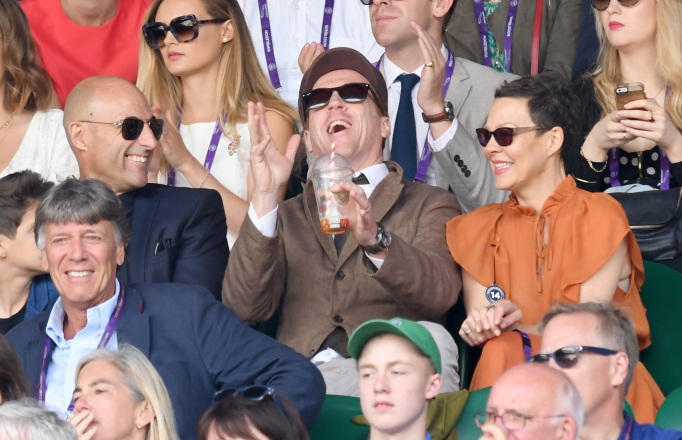 Check out these celebrities at the 2017 Wimbledon tournament: Damian Lewis & Helen McCrory