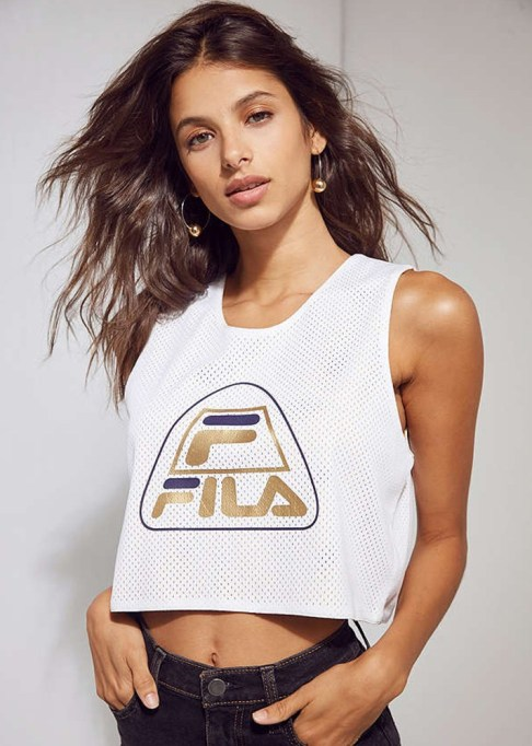 Chic Workout Clothes Under $50: FILA + UO Basketball Cropped Reversible Mesh Jersey | Fitness Gear 2017