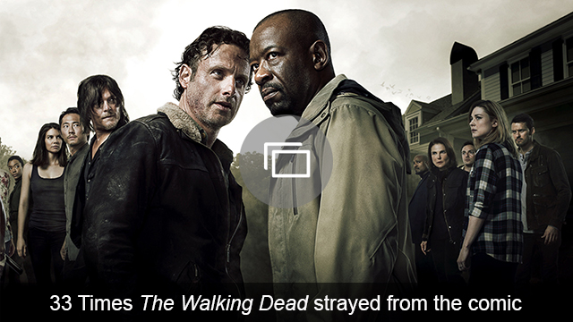 The Walking Dead TV vs comic slideshow
