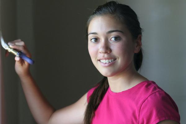 Tween Girl Painting
