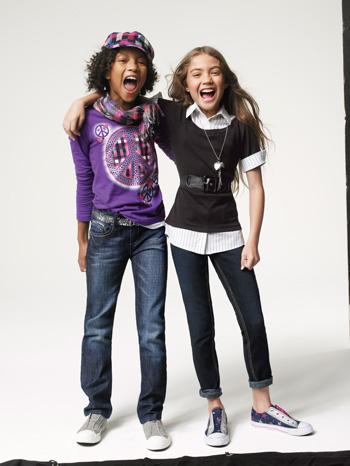 Tween Girls in Back to School Clothes