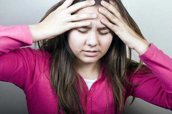 Tween with migraine