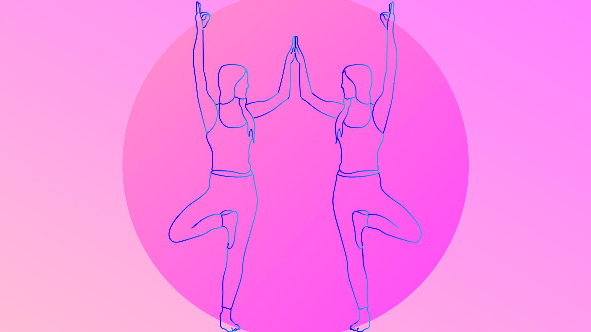 Twin Trees yoga pose