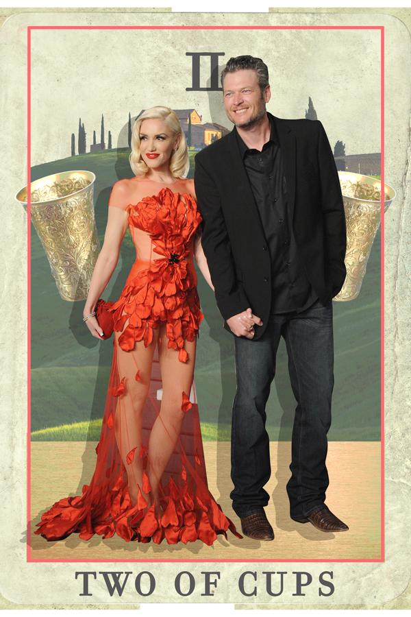 Blake Shelton, Gwen Stefani tarot card reading