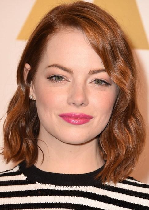 Celebrity-Inspired Ways to Wear Pink Lipstick | Emma Stone in pink lipstick | Celeb Style Trends 2017