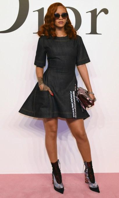 Rihanna denim dress