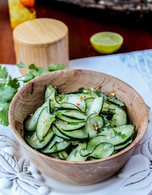 50 Easy Summer Salads: Cilantro Lime Cucumber Salad | Summer Eats