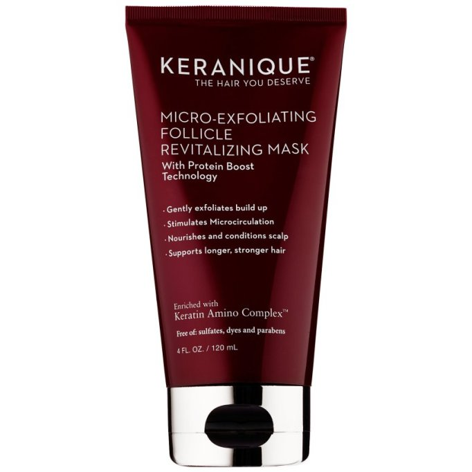 Scalp Exfoliators That'll Cure Your Hair Probs: Keranique Micro-Exfoliating Follicle Revitalizing Mask | Fall Hair Care
