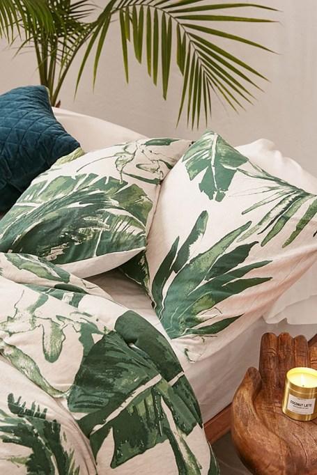 Expressive Palms Jersey Sham Set
