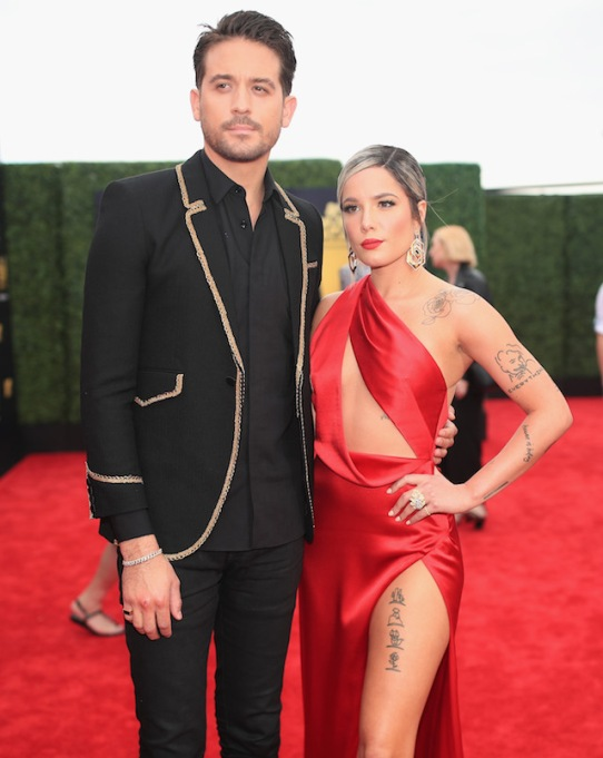 G-Eazy and Halsey attend the 2018 MTV Movie And TV Awards