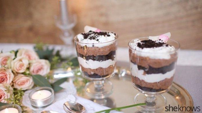 Boozy triple chocolate trifles take the