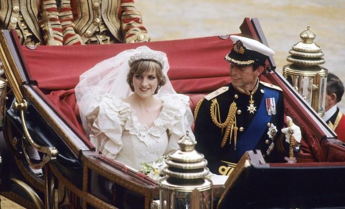 Prince Charles and Princess Diana's wedding