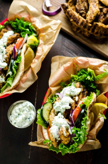 Summer sandwich recipe: Greek chicken gyros are the perfect satisfying summer dinner.