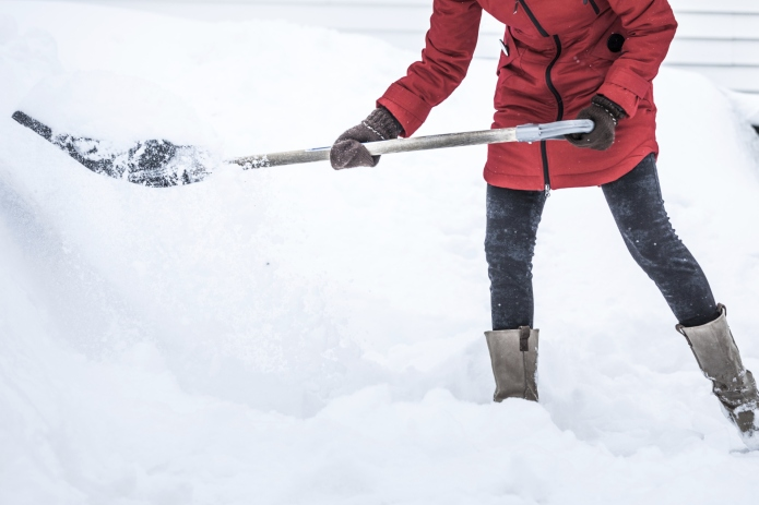 Why shoveling snow is actually pretty