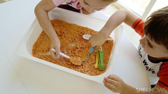 DIY pumpkin-scented play dough for kids