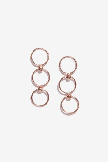 Gorgeous Jewelry Finds That Look Expensive: Nazaire Rose Gold 925 Silver Earrings | Inexpensive Jewelry Trends