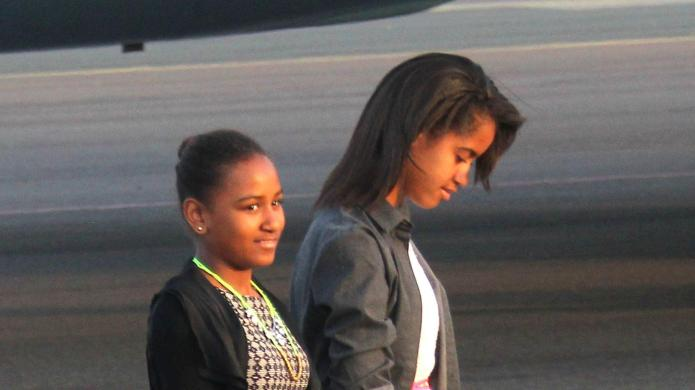 Malia Obama working as production assistant