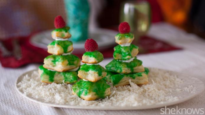 Puff pastry Christmas trees are the
