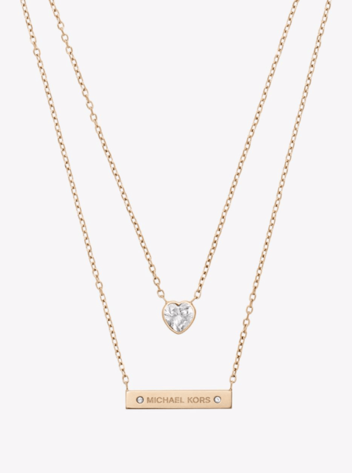 Pendant Necklaces to Stock Up On Now: Michael Kors Gold-Tone Double-Strand Pendant Necklace | Summer Style 2017