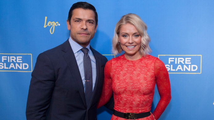 Mark Consuelos and Kelly Pipa attend