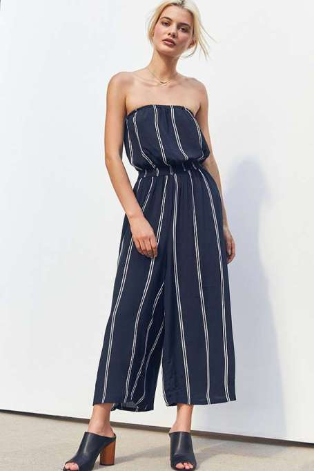 Jumpsuits You Need in Your Closet | Silence + Noise Jackson Strapless Culotte Jumpsuit