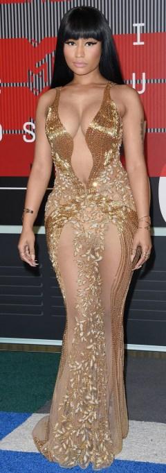 Nicki Minaj naked dress