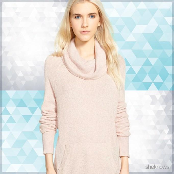 Light pink sweater dress