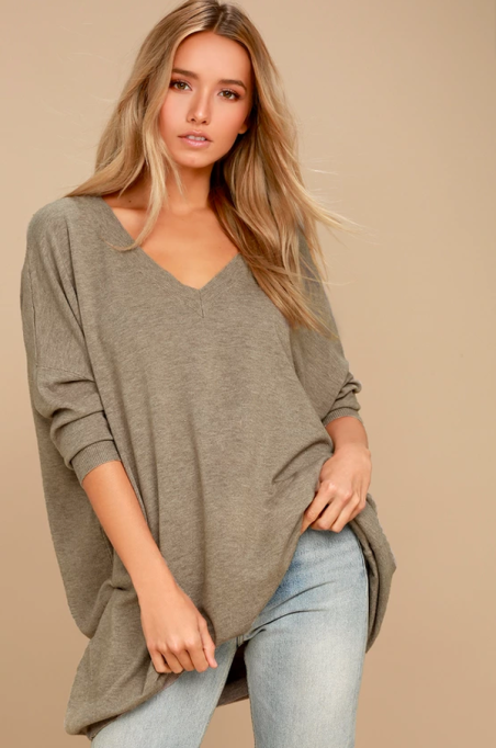 Cozy Sweaters For Under $100: Ticket to Cozy Light Brown Oversized Sweater | Fall Fashion 2017