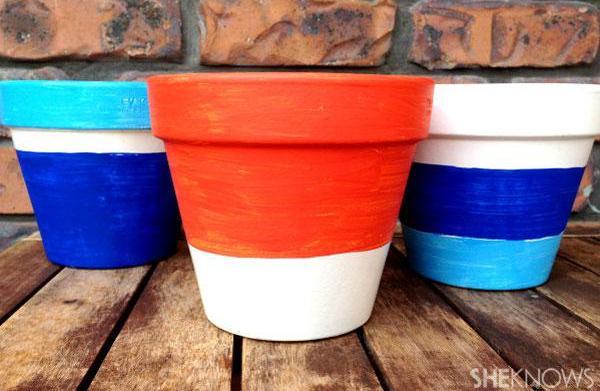 DIY terracotta pot makeover
