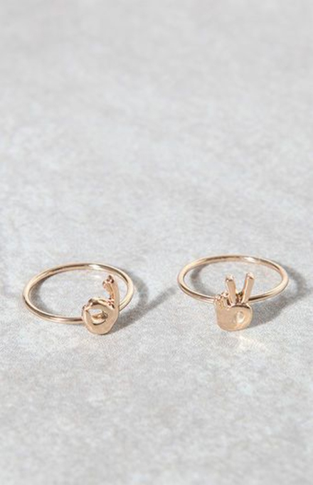 Stackable Rings To Stock Up On: LA Hearts Emoji Ring Set | Summer Fashion 2017