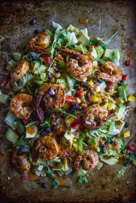Yummy Winter Salads You'll Actually Crave   Almond Crusted Chicken and Orange Wasabi Salad