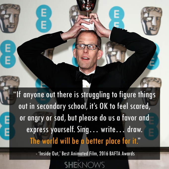 Inside Out 2016 BAFTA Pete Docter