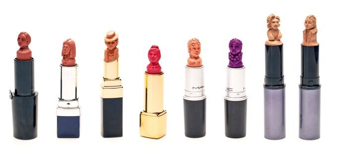Designer lipstick sculptures