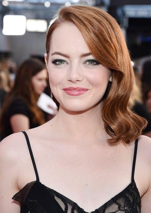 Best Celebrity Hair Transformations of 2017: Emma Stone's wavy red locks