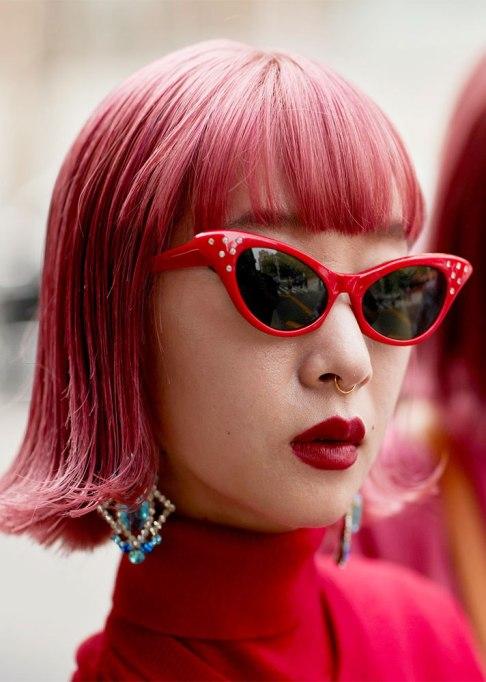 Stunning Ways To Style Short Hair   Pink Bangs