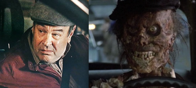 Dan Ackroyd and the zombie cab driver from Ghostbusters