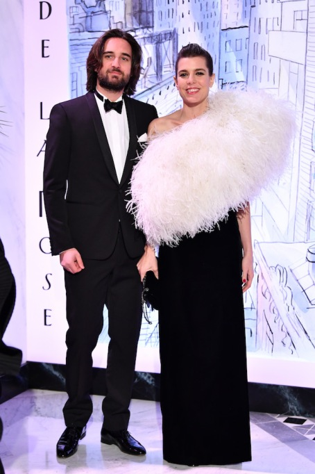 Dimitri Rassam and Charlotte Casiraghi at the Rose Ball 2018 to benefit The Princess Grace Foundation
