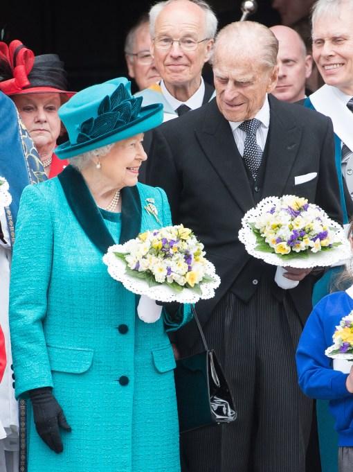 Queen Elizabeth II & Prince Philip in April 2017