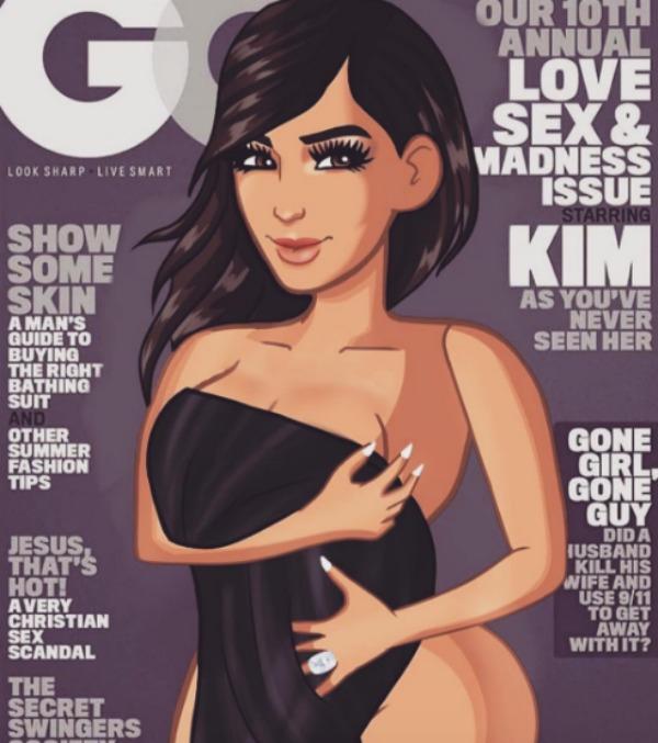 Kim Kardashian videogame cartoon