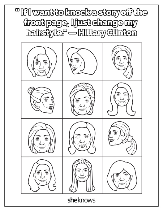 Hillary Clinton and her many hairstyles