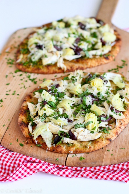 Healthy Pizza Recipes to Get Hooked On | Chicken Pesto Artichoke Naan Pizza