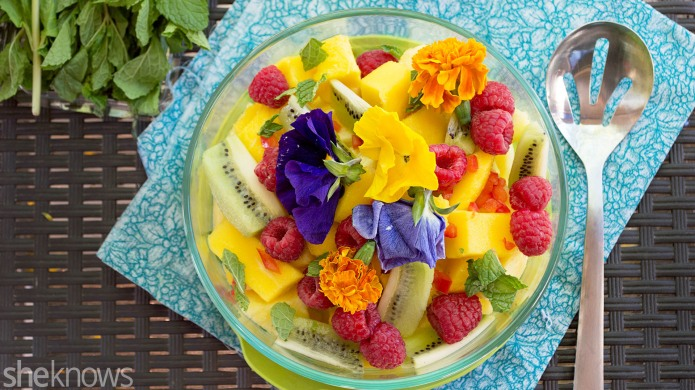 Spicy pineapple fruit salad is anything