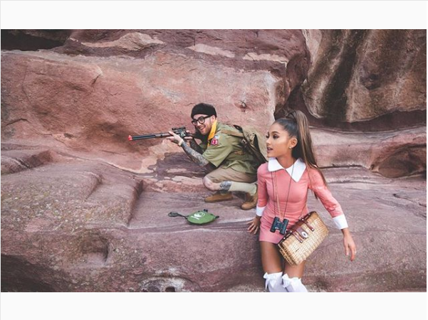 Ariana Grande and Mac Miller as Moonrise Kingdom