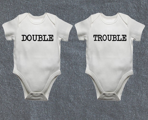 Double trouble twin onesies