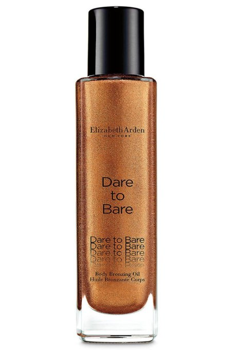 Body Oils To Layer Over Your Lotion: Elizabeth Arden Dare To Bare Body Bronzing Oil | Fall Skin Care