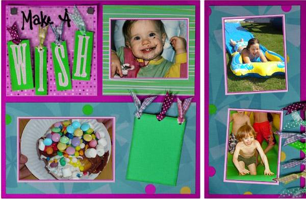 Creating a birthday scrapbook
