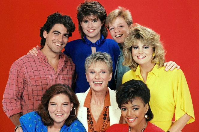 George Clooney and The Facts of Life cast